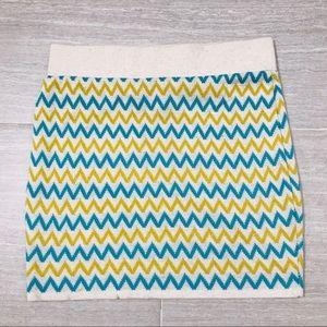 Debut Chevron Knit Mini Skirt